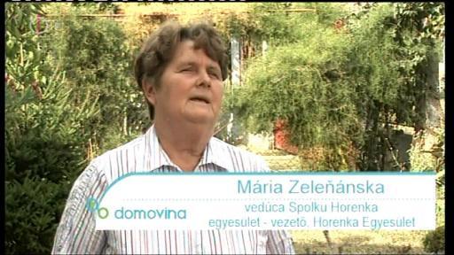 Mária Zelenánska, egyesület-vezető, Horenka Egyesület