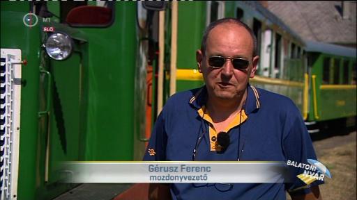 Gérusz Ferenc, mozdonyvezető