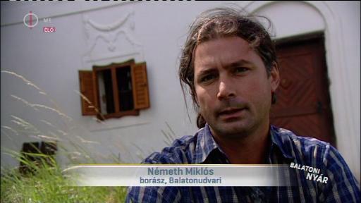 Németh Miklós, borász, Balatonudvari