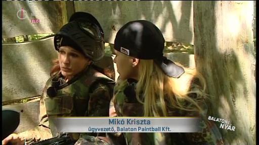 Mikó Kriszta, ügyvezető, Balaton Paintball Kft. [balra]