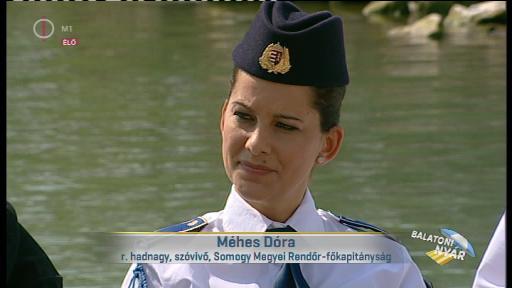 Méhes Dóra, rendőr hadnagy, szóvivő, Somogy Megyei Rendőr-főkapitányság