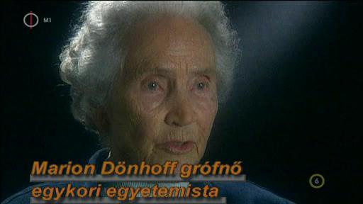 Marion Dönhoff grófnő, egykori egyetemista