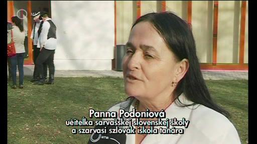 Panna Podoniová, tanár, szlovák iskola, Szarvas