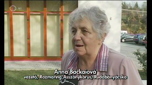 Anna Backaiová, vezető, Rozmaring Asszonykórus, Rudabányácska