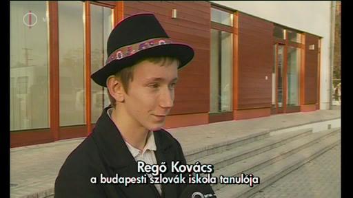 Regő Kovács, tanuló, szlovák iskola, Budapest