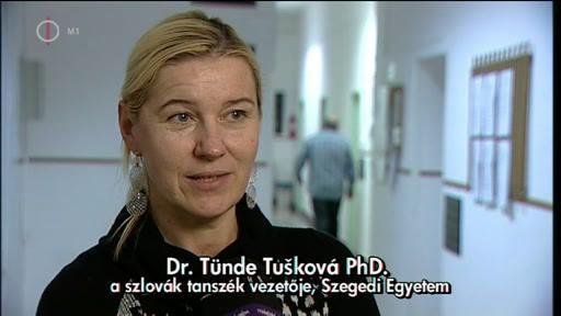 Dr. Tünde Tusková PhD., tanszékvezető, Szegedi Egyetem Szlovák Tanszék