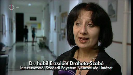 Dr. habil Erzsébet Drahota-Szabó, intézetvezető, Szegedi Egyetem Nemzetiségi Intézet