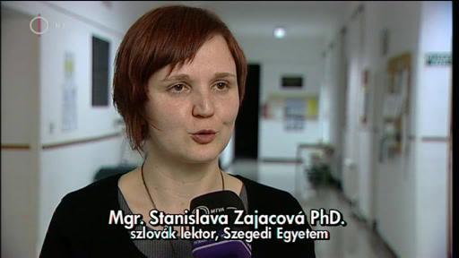 Mgr. Stanislava Zajacová PhD., szlovák lektor, Szegedi Egyetem