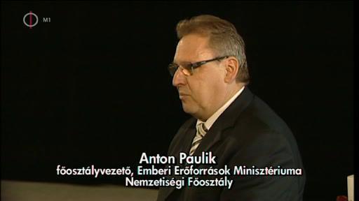 Anton Paulik, főosztályvezető, Emberi Erőforrások Minisztériuma Nemzetiségi Főosztály