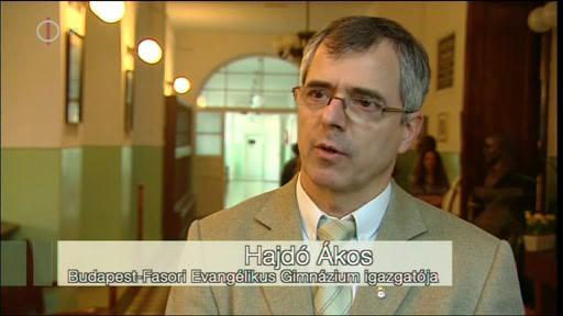 Hajdó Ákos, igazgató, Budapest-Fasori Evangélikus Gimnázium