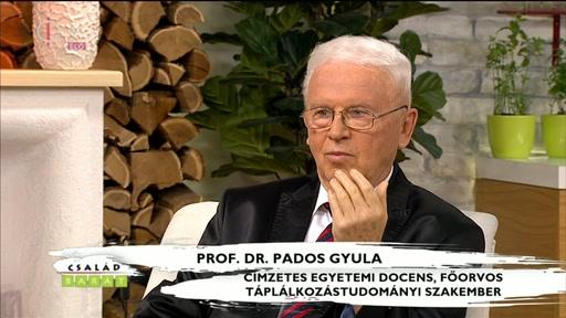 Prof. Dr. Pados Gyula, címzetes egyetemi docens, főorvos, táplálkozástudományi szakember