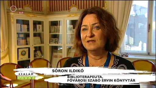 Sóron Ildikó, biblioterapeuta, Fővárosi Szabó Ervin Könyvtár