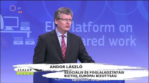 Andor László, szociális és foglalkoztatási biztos, Európai Bizottság