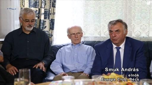 Smuk András, elnök, Europa Club, Bécs [jobb szélen]