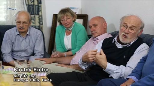 Kautny Endre, alapító tag, Europa Club, Bécs [jobb szélen]
