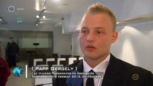 Papp Gergely, Az Ifjusági Tudományos és Innovációs Tehetségkutató Verseny 2012. évi fődíjasa