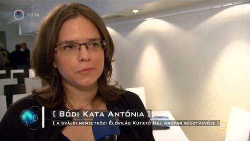 Bódi Kata Antónia, svájci Nemzetközi Élővilág Kutató Hét magyar résztvevője