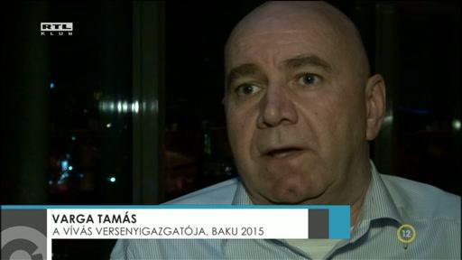 Varga Tamás, versenyigazgató, vívás, Baku 2015
