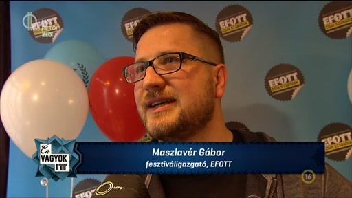 Maszlavér Gábor, fesztiváligazgató, EFOTT