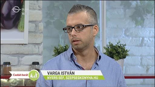 Varga István, nyers séf, szepsegkonyha.hu