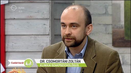 Dr. Csomortáni Zoltán, klinikai szakpszichológus