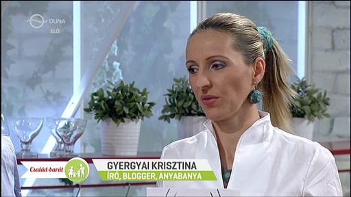 Gyergyai Krisztina, író, blogger, Anyabanya